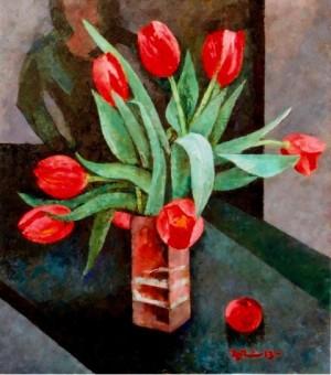 Tulips', 2013, 80x75
