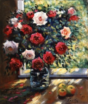 Roses With Apples, 1979, 85x70