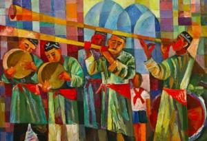 Uzbek Holiday', 1990, 51x73