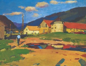 Stavne Village, 1963, oil on canvas, 53х69
