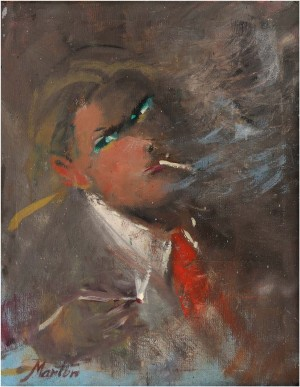 Portrait Of A Man With A Cigar, oil on canvas, 52x41