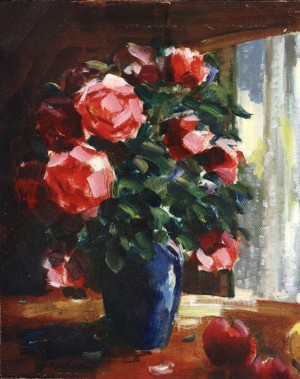 Roses With Apples, 1994, 50x40