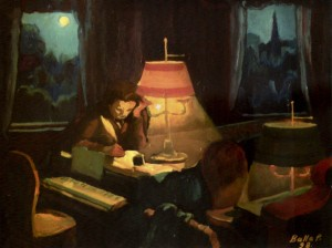 Beethoven. Moonlight Sonata, 1998, oil on cardboard, 65х83