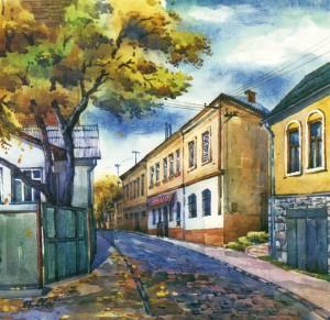 Ivan Olbracht street, 13 1997 watercolour