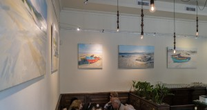 """Boats"" of Oleksii Fedor at Voto cafe"