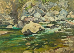 Mountain Stream, 1979, oil on cardboard, 50,5x70