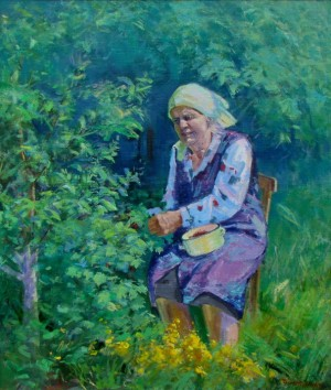 Mother-In-Law Of Mahei, 2010, oil on canvas, 90х80