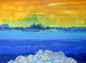 N. Didyk 'Adriatic', 2014, acrylic on canvas, 60x80