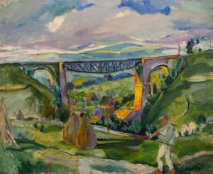 Пейзаж з мостом, сер. 1930-х, п.о., 83,6x95