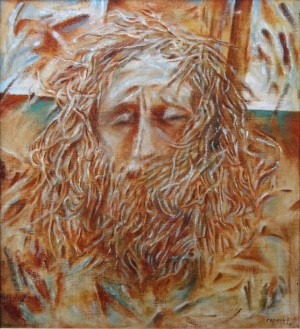 Jesus, 1994, oil on canvas, 80x70