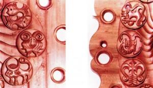 Декоративний годинник «Знаки зодіаку», фрагменти