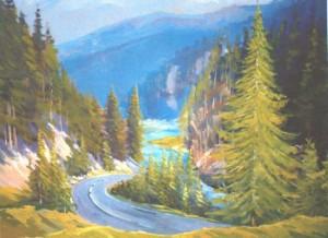 Road To Synevyr, 2010, oil on canvas, 60х80