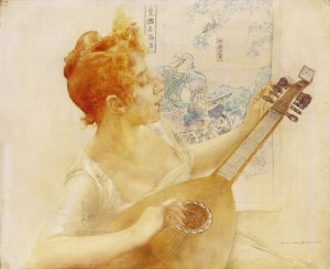 Girl With A Mandolin, oil on canvas, 34,8х42,2