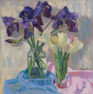 Ya. Katran, Still life with irises