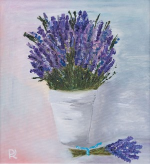 'Lavender For Bohdana', 2017, oil on canvas