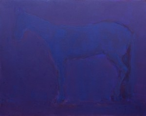 A. Kryvolap Horse. In purple, 2017, c.о. 160х200