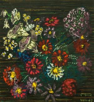 Квіти, 1967, пап. темп., 85х55
