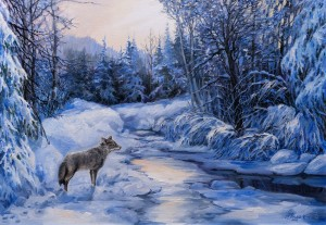 "N. Popovych ""A Lonely Wolf"""