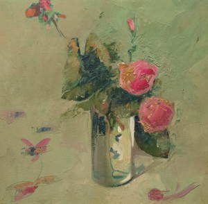 Roses, 2006, oil on canvas, 40x40