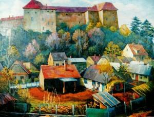Під Ужгородським замком, 1999, п.о., 80х100