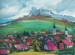 Фортеця у Словаччині, 2009, п.о., 50х70