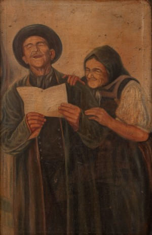 S. Silvai Grandfather And Grandmother Are Reading A Letter', oil on canvas