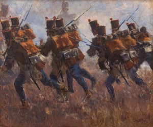 'Hungarian Honveds Attack Russian Infantry' (Fragment Of 'Transylvanian Panorama', 1897)