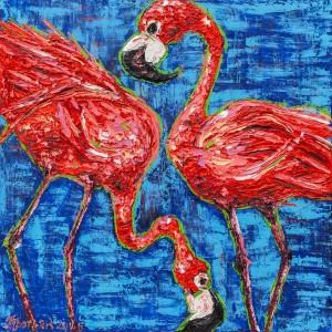 'Choice', 2018, oil on canvas, author's technique, 120x120