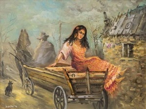 T. Yonash 'A Gypsy Woman In The Cart'