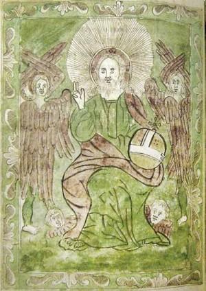 Мініатюра  Христос на троні. Акафіст, 1788-1789