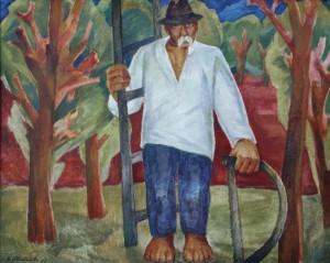 Дідо-садівник (авторський повтор), 2008, п.о. 85х104