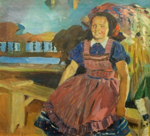 A Villager In The Interior, 1960, oil on canvas, 59x65