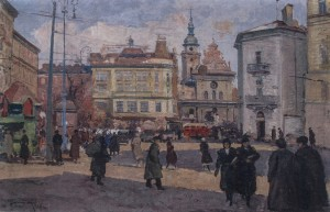 Lviv, 1956, oil on cardboard, 50x70