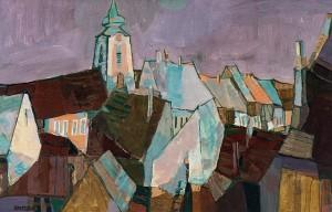 Uzhhorod Roofs, 2005, oil on masonite, 50x80