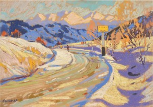 Early Spring, 1973, pastel on cardboard, 50x71