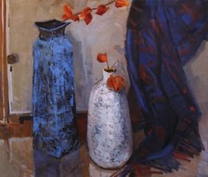 Натюрморт з двома вазами, кін. 1960-х, п.о. 87х101