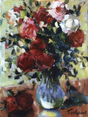 Roses On A Light Background, 1962, 40x30