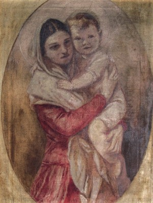 Madonna With Baby, the end 1930s, oil on canvas, 80x61