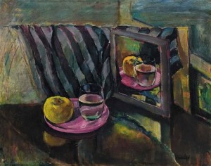 Still life with a glass of water and a mirror, 1930