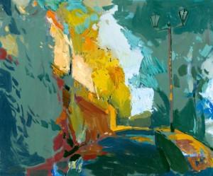 Тиха осінь (Дворик), 2006, к.о., 55х60