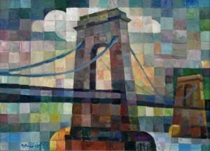 Chain Bridge', 2002, 53x73,5
