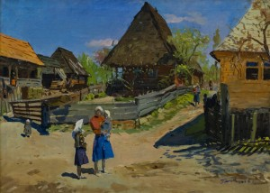 Rural Street, 1955, oil on canvas, 63,5х84,6