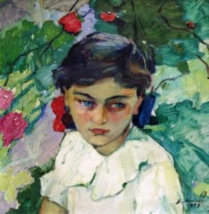 Дівчина на пленері, 1959, к.о. 44х42