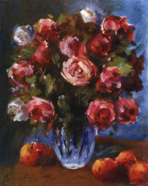 Roses On A Dark Background, 1985, 50x40