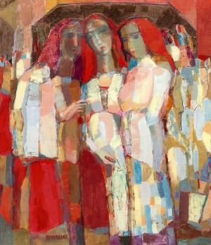Утрьох. Світла настроєвість, 2006, п.о., 57х48