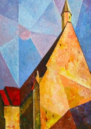 Church In Medling', 1997, 80x60