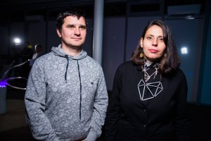 Віктор Мельничук зі своєю дружиною Беатою Корн