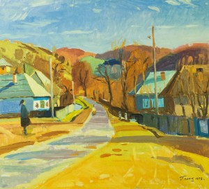Rural Street, 1972, oil on canvas, 79x87