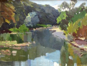 River Bed Of River Uzh, 1966, oil on canvas, 59x79