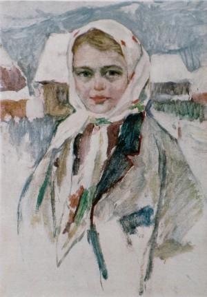 Дівчина з Колочави, 1960, к.о. 67х48
